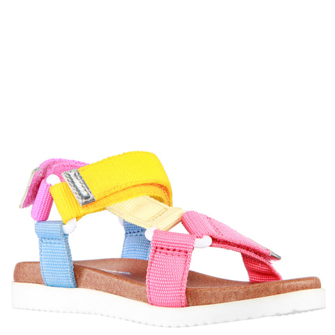 Color Block Web Sandal - Multi