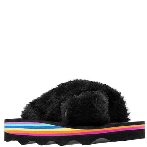 Fur Slide - Black