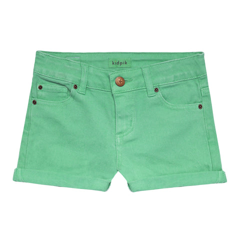 5 Pocket Cuffed Colored Short - Jadite