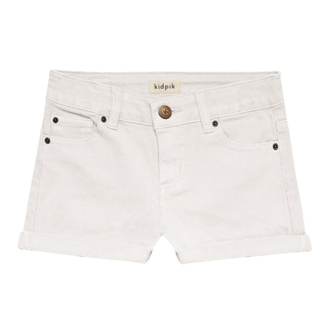 5 Pocket Cuffed Colored Short - White