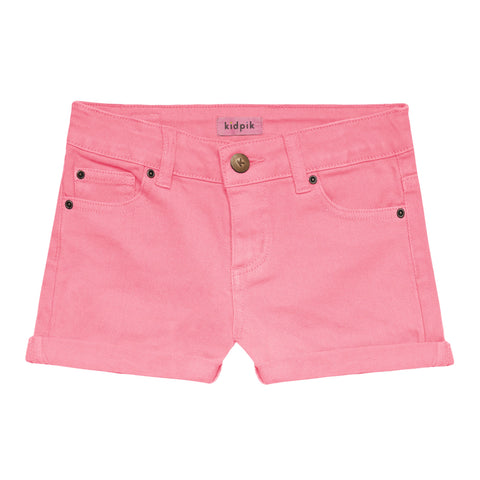 5 Pocket Cuffed Colored Short - Prism Pink