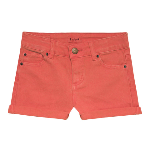 5 Pocket Cuffed Colored Short - Calypso Coral