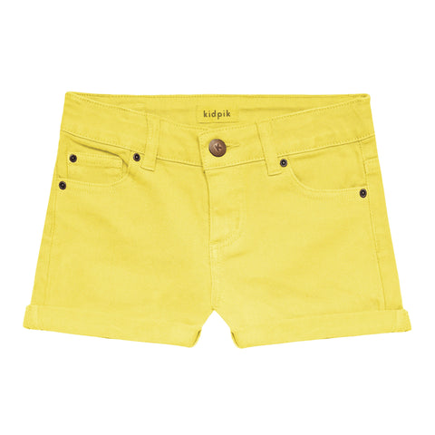 5 Pocket Cuffed Colored Short - Limelight
