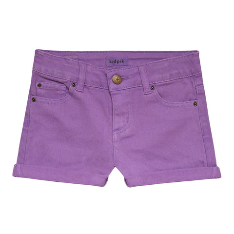 5 Pocket Cuffed Colored Short - Hyacinth