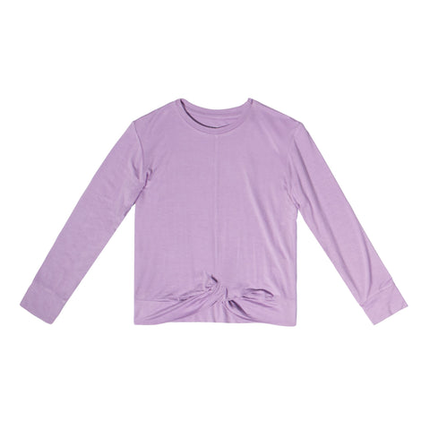 Twisted Tee - Sheer Lilac