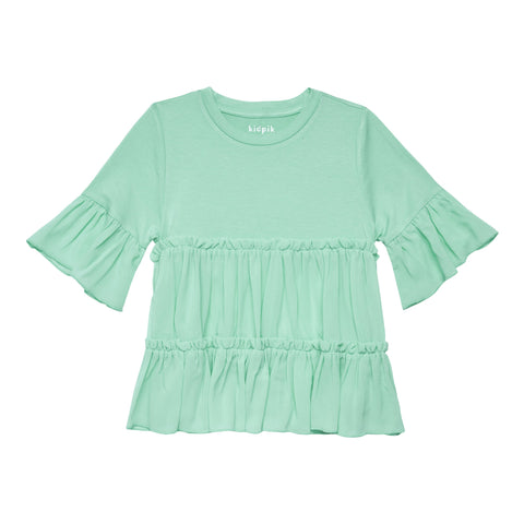 Tiered Ruffle Top - Jadite