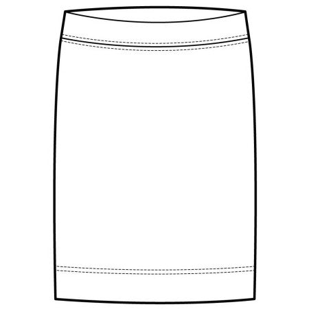 Pencil Skirt - White