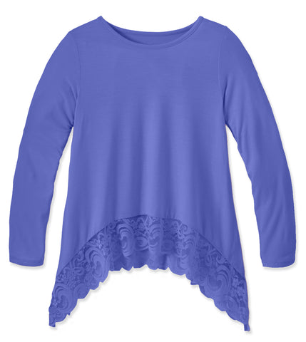 Lace Trim Swing Top - Persian Jewel