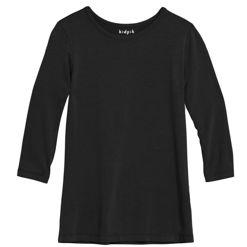 Essential 3/4 Layering Tee - Black