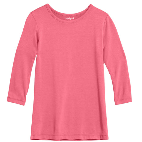 Essential 3/4 Layering Tee - Camellia Rose
