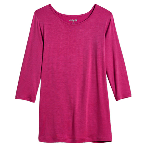 Essential 3/4 Layering Tee - Fuchsia Purple