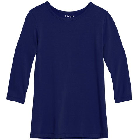 Essential 3/4 Layering Tee - Ruum Navy