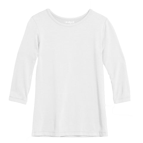 Essential 3/4 Layering Tee - White