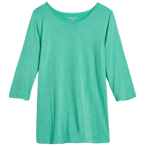 Essential 3/4 Layering Tee - Lucite Green