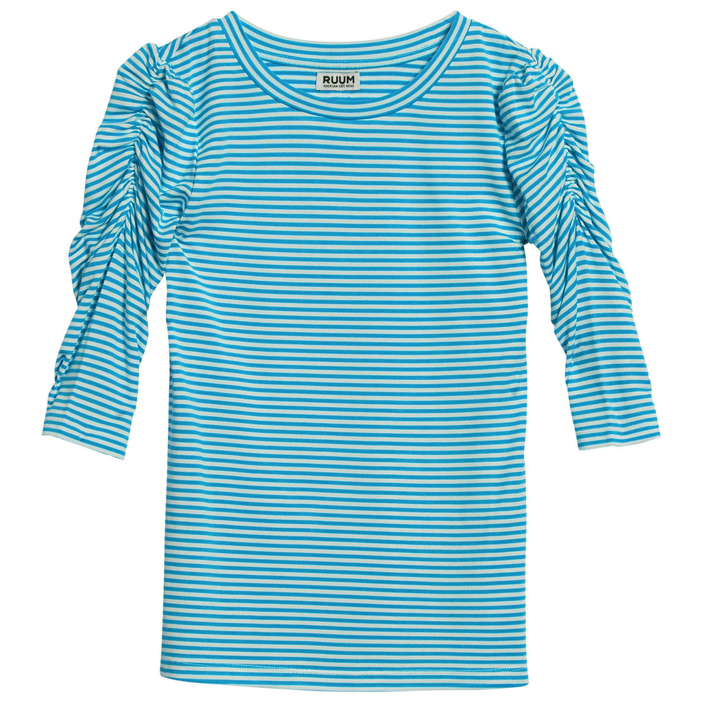 Stripe Rouched Tee