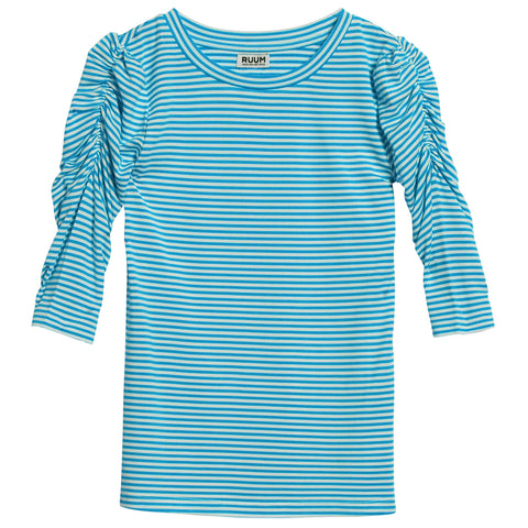 Stripe Rouched Tee - Ceramic