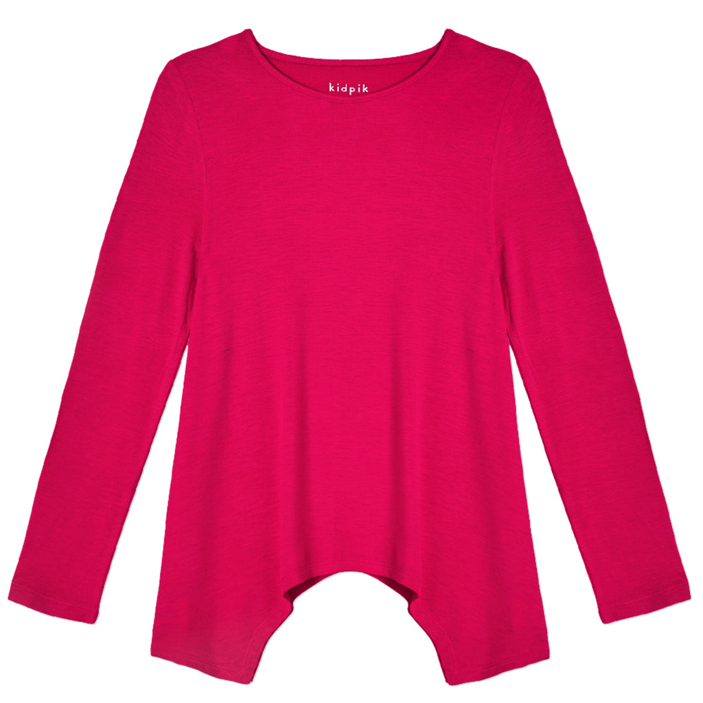 Long Sleeve Swing Top - Beetroot Purple