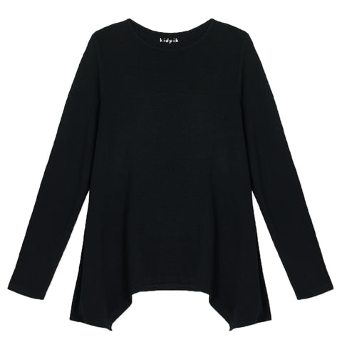 Silky Soft Swing Top - Black