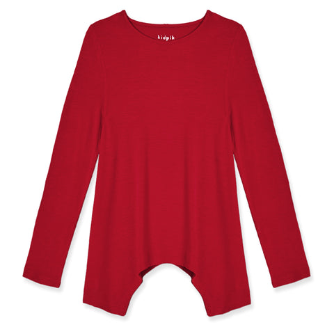Silky Soft Swing Top - Chili Pepper