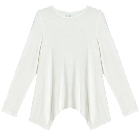 Silky Soft Swing Top - White
