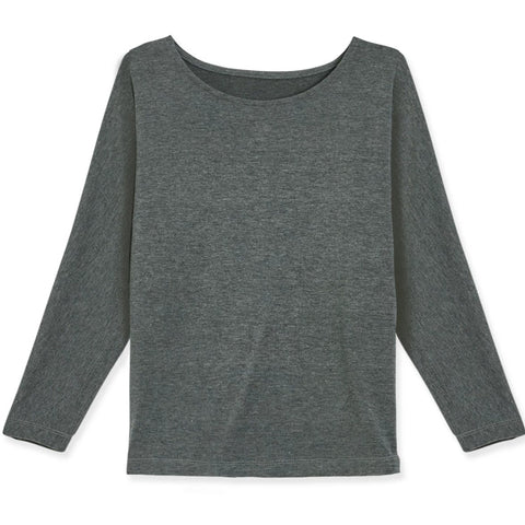 Dolman Tee - Dark Heather Grey