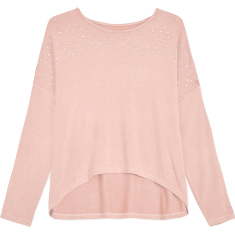 Rhinestone Dolman Top - English Rose