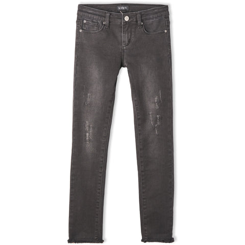 Grey Distressed Skinny Jean - Stormy Wash