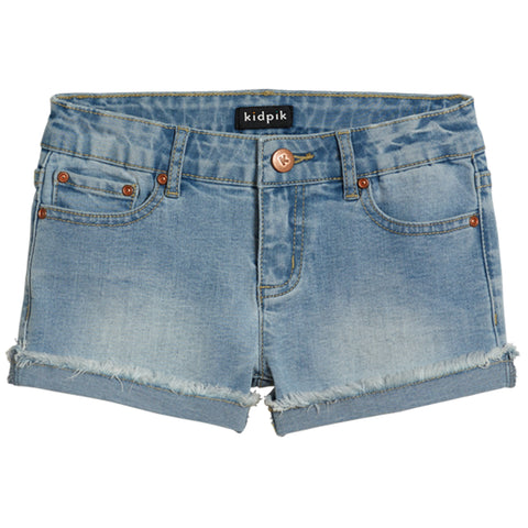 Cuffed 5 Pocket Denim Short - Crystal Blue Wash