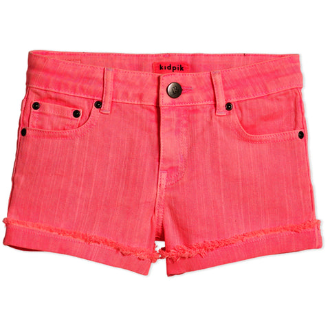 Cuffed 5 Pocket Short - Camellia Rose