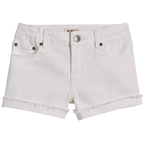 Cuffed 5 Pocket Short - White