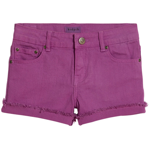 Cuffed 5 Pocket Short - Radiant Orchid