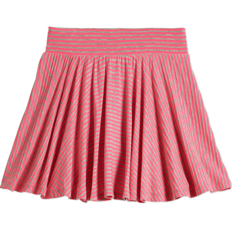 Stripe Knit Skort - Knockout Pink