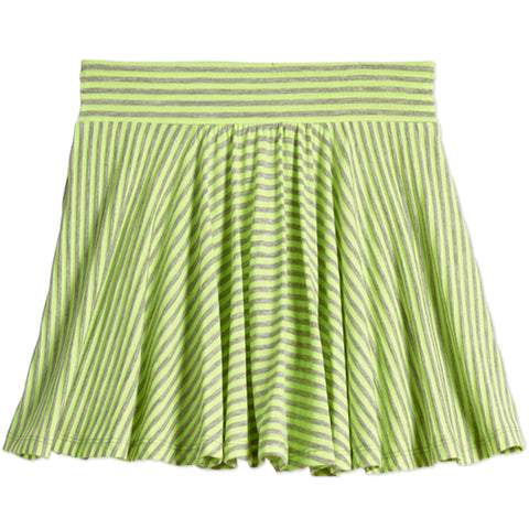 Stripe Knit Skort - Safety Yellow