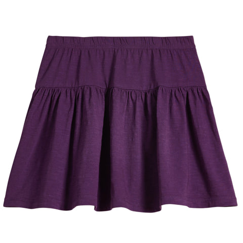 Drop Yoke Skirt - Plum Purple