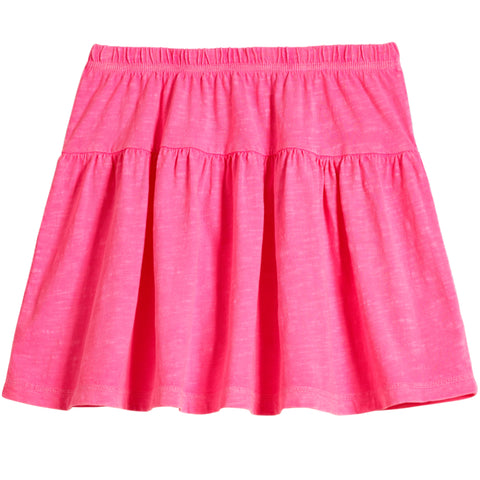 Drop Yoke Skirt - Knockout Pink