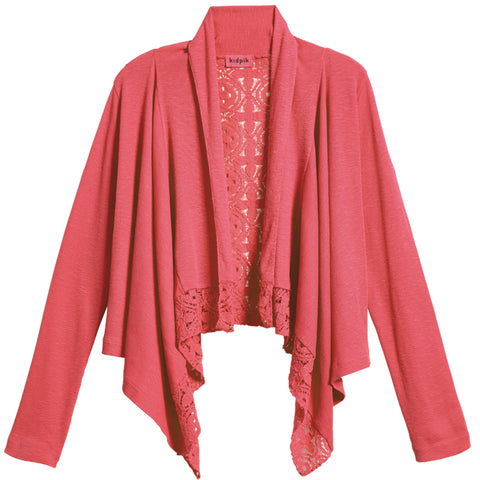 Rib Lace Flyaway Cover-Up - Camellia Rose