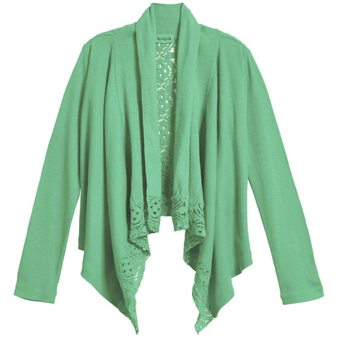 Rib Lace Flyaway Cover-Up - Lucite Green