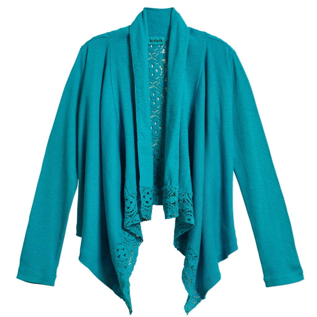 Rib Lace Flyaway Cover-Up