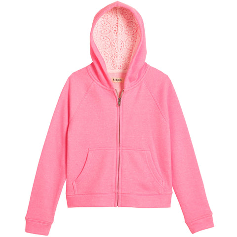 Trimmed Hoodie - Cotton Candy