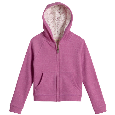Trimmed Hoodie - Radiant Orchid