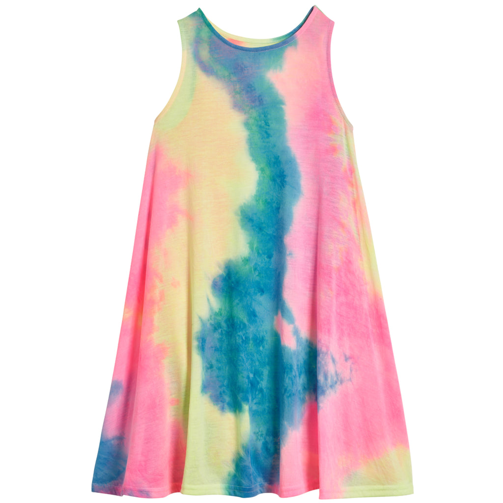 Tie Dye Swing Dress - Cotton Candy