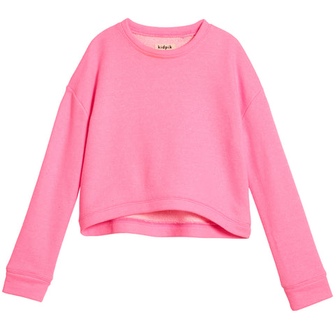 Cropped Sweatshirt - Cotton Candy