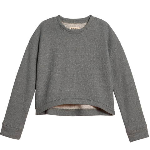 Cropped Sweatshirt - Medium Heather Grey