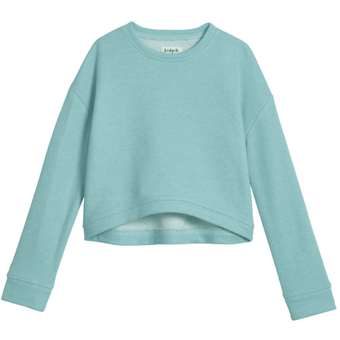 Cropped Sweatshirt - Aqua Splash