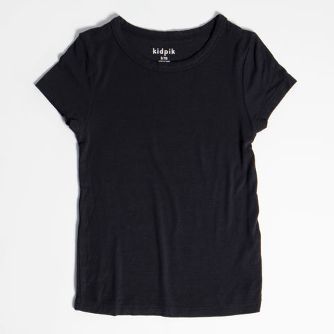 Ribbed Crew - Black
