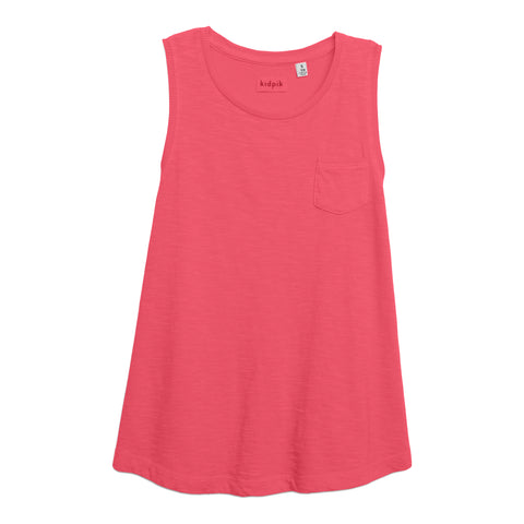 One Pocket Tank - Camellia Rose