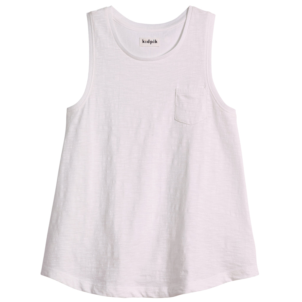 One Pocket Tank - White