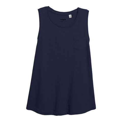 One Pocket Tank - Kidpik Navy