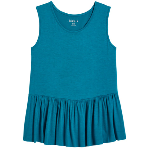 Ruffle Tank - Capri Breeze