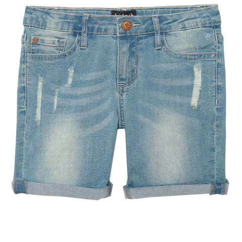 Cuffed Denim Bermuda - See The Light